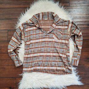 vintage 60s plaid blouse